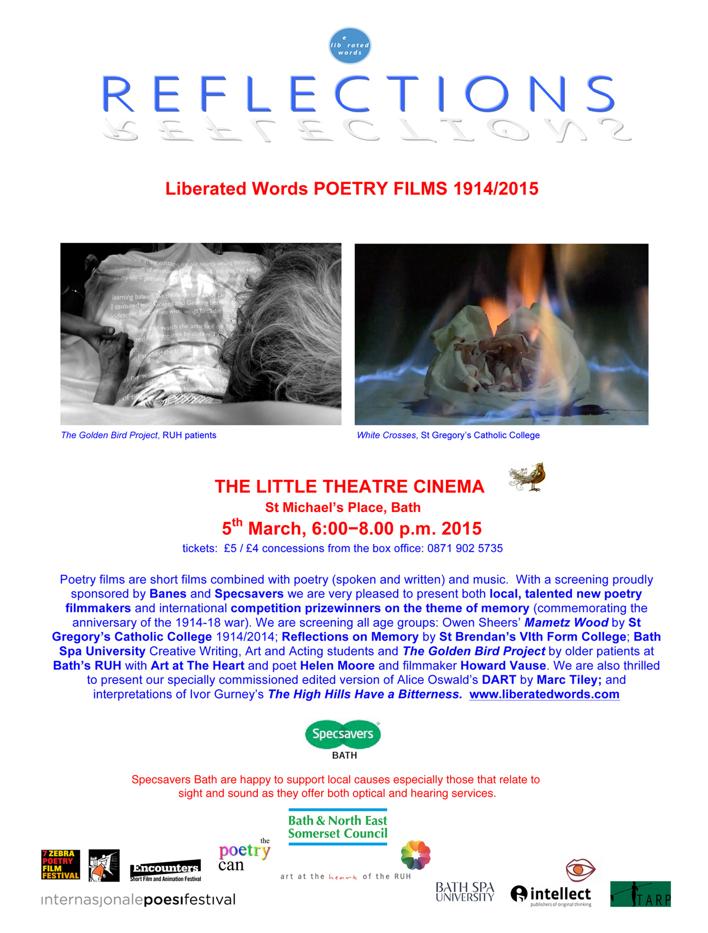 Microsoft Word - REFLECTIONS Little Theatre Cinema 5 march.doc